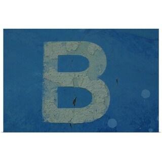 """""""Letter B"""" Poster Print"""