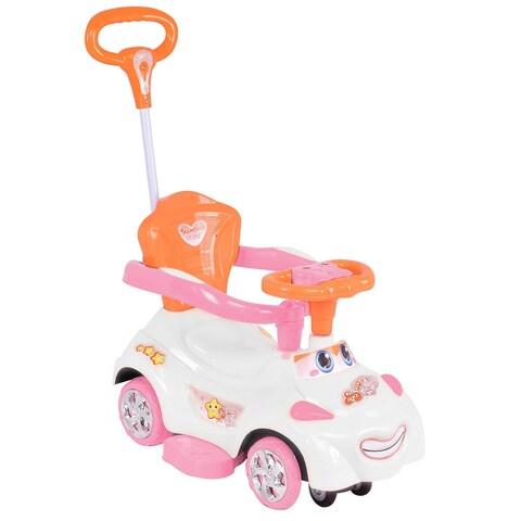 Costway Xmas Gift 3 in 1 Kids Ride On Push Car Sliding Swinging Stroller Toddler Wagon w/ Handle