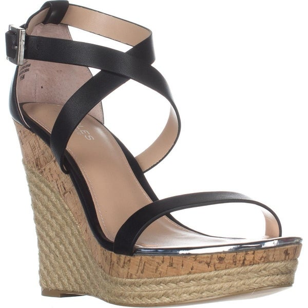 Charles Charles David Aden Wedge Wespadrilles Sandals, Black