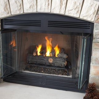 Real Flame 2609-O 24 inch Convert to Gel Log Set - Brown/Gray