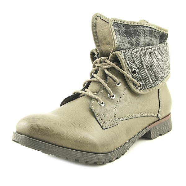 Rock & Candy Spraypaint Plaid Grey Boots