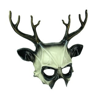 Black and White Wicked Deer Adult Costume Mask