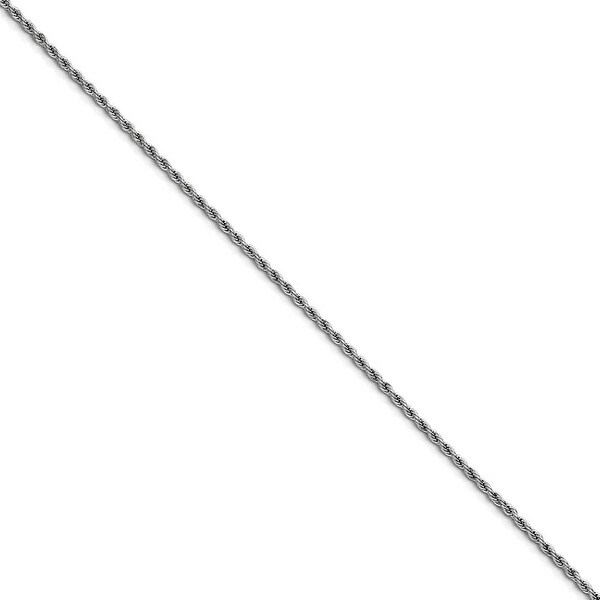 Chisel Stainless Steel 2.3mm 24 Inch Rope Chain (2.3 mm) - 24 in
