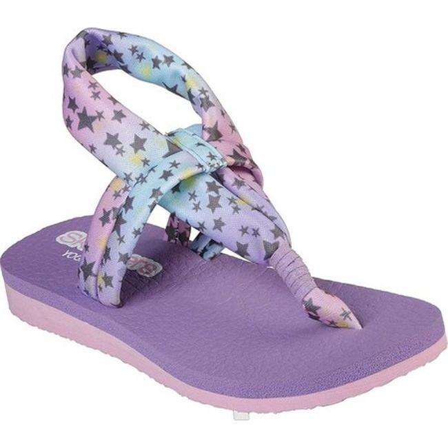 5107e6f6097f Shop Skechers Girls  Meditation Star Gazing Thong Sandal Lavender Multi -  On Sale - Free Shipping On Orders Over  45 - Overstock - 26975624