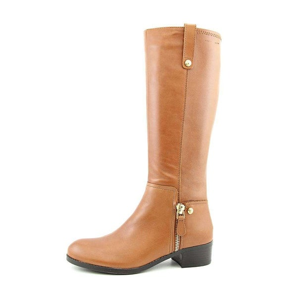 GUESS Womens Tafn Leather Almond Toe Knee High Riding Boots