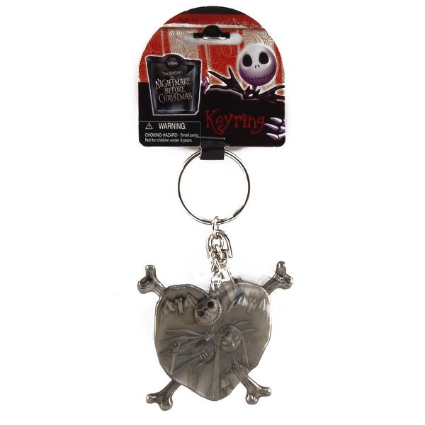 Disney Nightmare Before Christmas Jack & Sally In a Heart Key Ring
