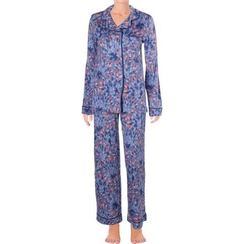 Munki Munki Womens Bird In A Bush Pajama Set Printed Classic