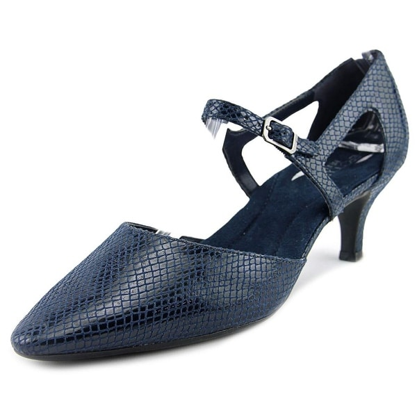 Aerosoles Ardent Women Pointed Toe Canvas Blue Heels