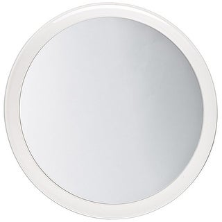 Jerdon Round 3 Suction Mirror, 5x Magnification, White, 9 Inches - Clear