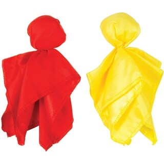"""Club Pack of 24 Yellow Penalty and Red Challenge Football Party Flags 7"""""""