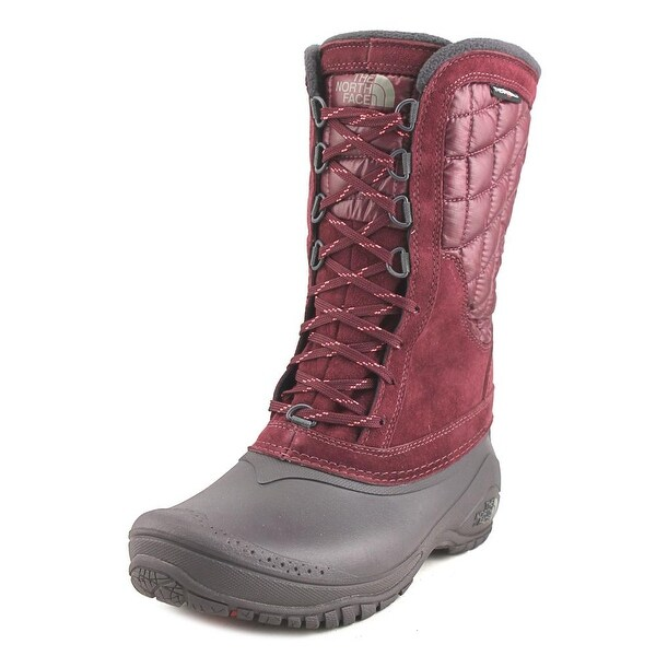 The North Face Thermoball Utility Mid Deep Garnet Red/Calypso Coral Snow Boots