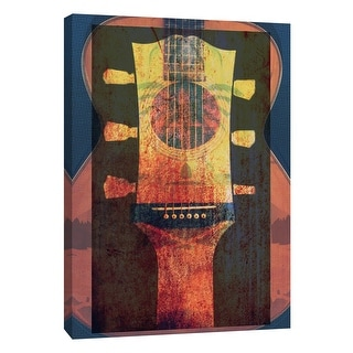 """PTM Images 9-106032  PTM Canvas Collection 10"""" x 8"""" - """"BB Martin 6"""" Giclee Guitars Art Print on Canvas"""