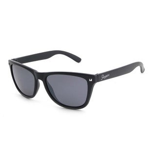 Peppers Sunglasses Spitfire Black Frame with Polarized Smoke Lens