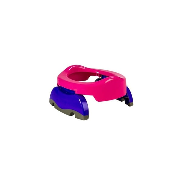 Kalencom 2-in-1 On-The-Go Travel Potty Trainer Seat Pink Travel Potty and Trainer Seat