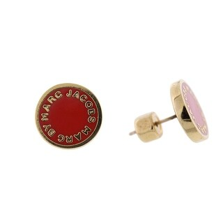 Marc by Marc Jacobs Womens Stud Earring Logo Post - shock red