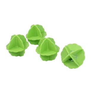 Household Plastic Clothes Laundry Washing Ball Green 4 Pcs