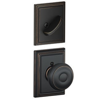 Schlage F94-GEO-ADD  Georgian One-Sided Dummy Interior Pack with Addison Trim - Exterior Handleset Sold Separately