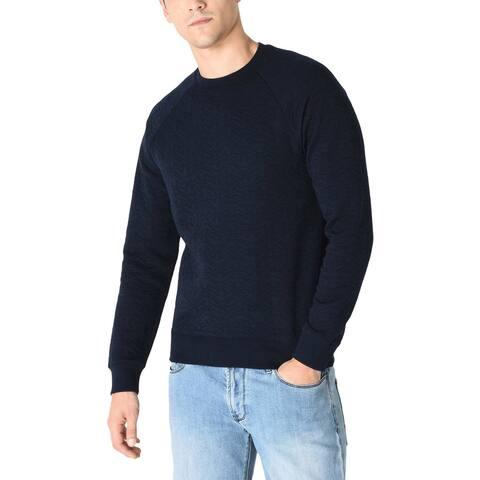 Armani Jeans Mens Eagle Logo Sweatshirt Medium Dark Navy