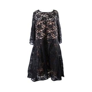 City Chic Plus Size Black Lace Midi Dress 22W