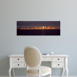 Easy Art Prints Panoramic Image 'City viewed from Alki Beach, Seattle, King County, Washington State, USA' Canvas Art