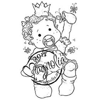 "Princes & Princesses Cling Stamp 6.5""X3.5"" Package-Baby Tilda"