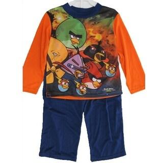 Spiderman Little Boys Orange Spidey Graphic Print 2 Pc Pajama Set 4-6