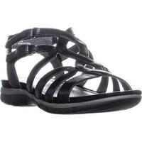 BareTraps Kaylyn Strappy Flat Sandals, Black