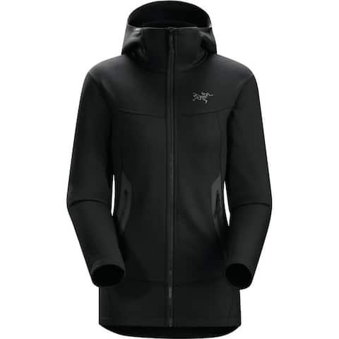 Arc'teryx Arenite Women's Fleece Hoody- Insulated, Durable, Moisture Wicking - Black - XS
