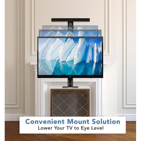 Shop Mount It Heavy Duty Fireplace Mantel Tv Mount Pull Down