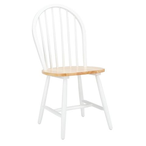 "SAFAVIEH Camden Spindle Oval Back Dining Chairs (Set of 2) - 17.9"" x 19.7"" x 37"""