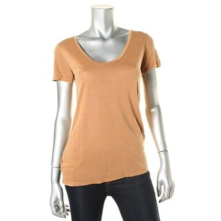 Project Social T Womens Jamie Modal Short Sleeves Pullover Top