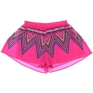 Lush Womens Pattern Flat Front Shorts