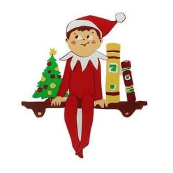 """5.75"""" The Elf on the Shelf Jelz Christmas Window Cling - brown"""