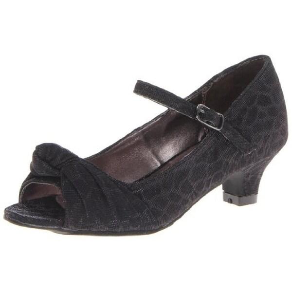 Steve Madden Girls Betty Peep-Toe Heels Glitter