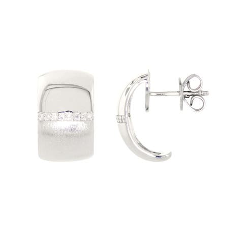 925 Sterling Silver Diamond Hoop Earring