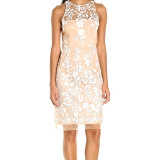 Betsey Johnson NEW Nude Ivory Womens Size 10 Embroidered Sheath Dress|https://ak1.ostkcdn.com/images/products/is/images/direct/c014fe1f36585ae80c07af459e45c20bb2dfde65/Betsey-Johnson-NEW-Nude-Ivory-Womens-Size-10-Embroidered-Sheath-Dress.jpg?_ostk_perf_=percv&impolicy=medium