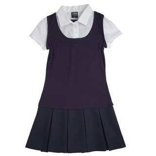 French Toast Girls 4-14 2-in-1 Pleated Dress