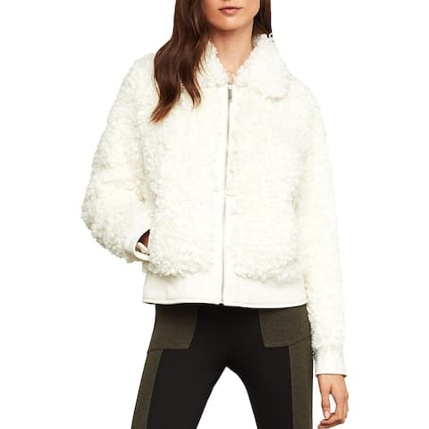 BCBG Max Azria Womens Mia Coat Winter Faux Fur