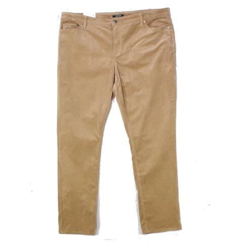 Lauren by Ralph Lauren Women's Brown Size 20W Plus Corduroys Pants