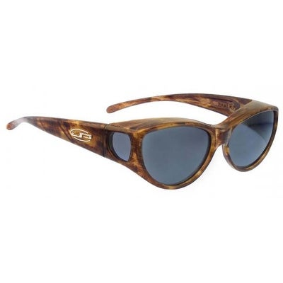 Jonathan Paul Fitovers Medium Ikara Tiger Eye Polarized Grey Sunglasses