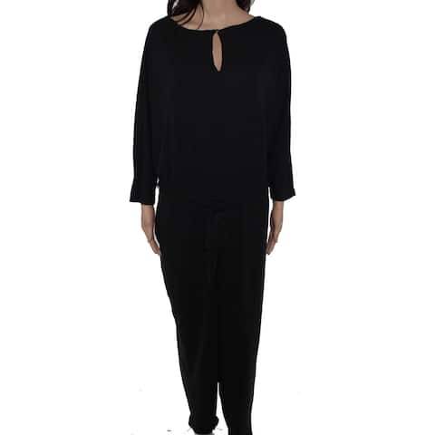 Lauren by Ralph Lauren Women's Jumpsuit Black Size 2X Plus Belted