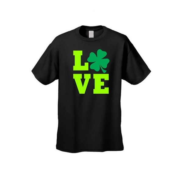 Men's T-Shirt Irish Lucky Leaf Plush Love Ireland St. Patrick's Day Alcohol Drink Beer