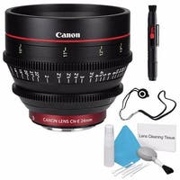 Canon CN-E 24mm T1.5 L F Cine Lens (International Model) + Deluxe Cleaning Kit + Lens Cap Keeper Bundle (AF6CANCNE2415LB4)