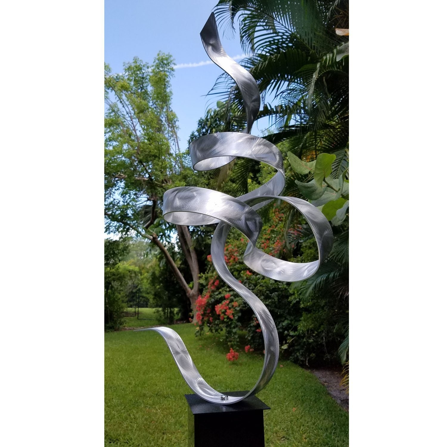 Abstract Metal Garden Sculpture