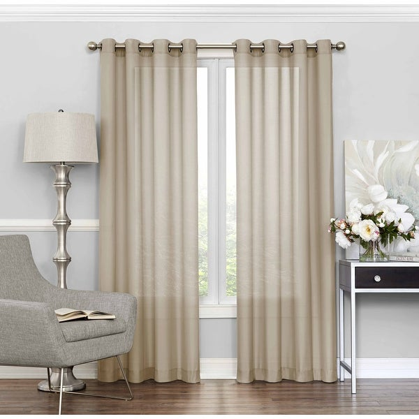Eclipse Liberty Light-filtering Sheer Single Curtain Panel. Opens flyout.