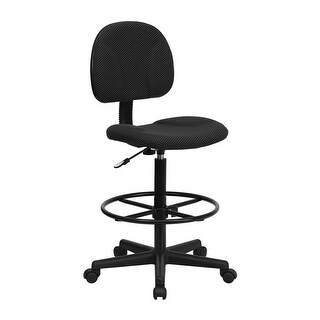 Offex Black Patterned Fabric Ergonomic Drafting Chair [OF-BT-659-BLK-GG]