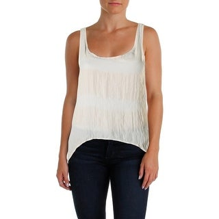 Free People Womens Tank Top Georgette Open Back