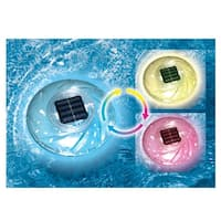 "7"" Solar Powered Color-Changing Floating Swimming Pool Disc Light"