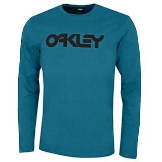 Oakley Mens Mark Ii L/S Tee, Blue Coral, L
