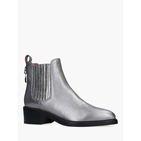 Coach Womens Bowery Bootie Leather Pointed Toe Ankle Chelsea Boots
